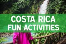 Fun Activities in Costa Rica / Collection of the best things to do in Costa Rica such as ziplining, white water rafting and more. www.mytanfeet.com