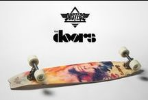 Dusters California x The Doors Collab / We are proud to announce the Dusters California x The Doors collab boards. The Doors and their eclectic music and lifestyle were key influences that shaped the rise and style of skateboarding. Their expressive lyrics spoke to the streets and sidewalks of Venice where Dusters roots lie. The new cruiser and longboard designs will bring you back to the free spirited time of the past with giving you the benefits of a modern ride & feel.