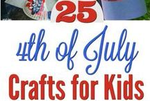 4th of July Crafts for Kids / Check out our wide variety of 4th of July crafts for kids including toddlers, preschoolers, and elementary school age children.