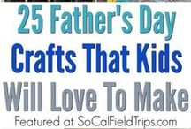 Father's Day Crafts for Kids / Father's Day Crafts and Activities ideal for preschoolers and elementary school children to make for that special dad or father figure in their life.