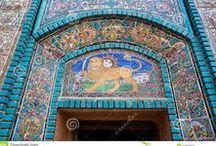 "PERSIA Ceramica, mosaica e piastrelle /   کاشی - سفال - سرامیک, چینی  و موزائیک های سرزمین  هزار و یک شب-  ایران   Mosaica e porcellana del paese ""Le mille e una notte"" - Iran"