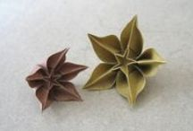 origami, followed things and random paper / These are meant to be alternatives to flowers at a wedding but uses are applicable. Lots of DIY's