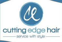 Cutting Edge Hair / The latest techniques and styles for our clients to browse during consultations with stylists.
