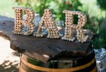 Wine Vineyard Themed Wedding Ideas / Many brides and grooms are choosing to celebrate their wedding days in the grounds of vineyards and decorating with wine related items.