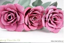 Flowers DIY from Paper / DIY paper flower inspiration