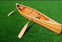 wooden boat / canoe, kayak
