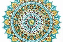 Finished Mandalas in Color / Many of these are printable mandala coloring pages from mondaymandala.com.