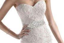 Ceinture robe de mariée / Pour sublimer la robe de mariée, la ceinture satin est l'accessoire de mariage idéal. Pas de couture, réutilisable en headband.