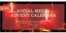 Social Media Advent Calendar - 24 Business Tips / 24 social media tips for business.  1 every day over the advent period (December 01-24 2016).  Make sure Social Media isn't just for Christmas - it's for life!