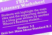 Free Literacy Worksheets / Free literacy worksheets and printables from Whooo's Reading. Sign up for access to an entire library of free downloads.