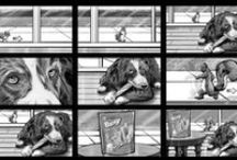Shooting Boards Storyboards / These are storyboards for production companies.