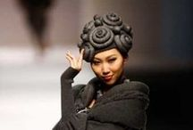 art of runway / hats & their outfits on the catwalk