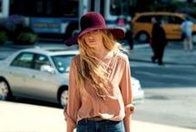 seen on the street - women / girls in hats
