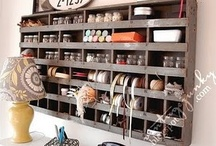 Everything Has A Place: Organization / Organization ideas with vintage items and repurposed finds.