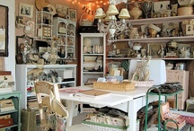 Creative Spaces & Rooms / Rooms with a purpose that spark our creativity. Our own special place with vintage finds.
