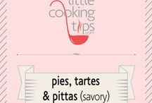 Pies, Tartes and Pittas(savory) / Recipes for tartes, savory pies and Greek pies (called pitas or pittas, like spanakopita). Oven baked yumminess!
