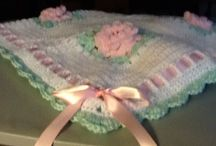 Crochet Baby Blankets / Crocheted baby blankets.   For ideas or patterns. / by Bonnie Parsons
