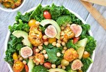 Salads / green and gorgeous