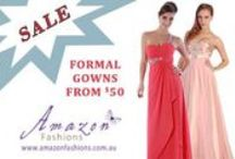 CHEAP FORMAL GOWNS / Formal dresses from $50 - the most you'll pay is $140. BARGAIN!!! All are available online at amazonfashions.com.au