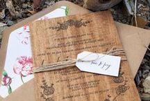 LAS INVITACIONES | WEDDING INVITATIONS | STATIONERY / Invitaciones#boda vintage#diseño original#wedding invitation#original design invitation / by MARTES -BODAS