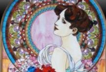 Stained Glass✿⊱ / art nouveau, victorian, tiffany, mucha