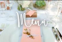Menu de Bodas / Formas originales de presentar tu menú de boda.
