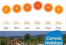 Die sonnigsten Plätze / Bis zu 12 Stunden Sonne am Tag! Das bieten die Canvas Holdidays Cmapingplätze. Die TOP-5 haben wir hier für Euch zusammengestellt! www.canvasholidays.de