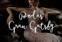 Temática de Bodas: El Gran Gatsby / Vestidos con cristales Swarovski y lentejuelas, flecos, pieles sobre seda, gasa y terciopelo, joyas con deslumbrantes diamantes e infinitos collares de perlas.