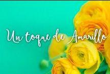 Un toque de Amarillo... / Escoge los colores para decorar tu boda.