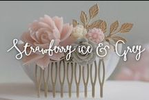 Strawberry Ice  & Grey / Colores en los que inspirar tu boda.