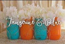 Tangerine & blue / Colores para decorar tu boda