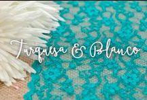 Turquesa y Blanco / Colores en los que inspirar tu boda.