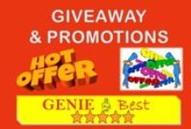 Giveaways and Promotions / Everyone loves giveaways! Share giveaway promotions, giveaways galore and giveaway ideas. www.geniebest.com
