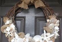 Wreaths & Walls / Beach themed wreaths and wall decor for the holidays and year round.