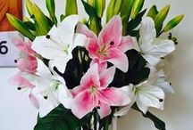 Real Touch Casablanca Lily Flower Arrangements