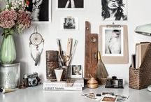 Country Style – Home Office / Stylish organisation ideas for your desktop or workspace.