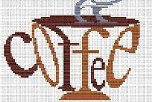 Cross Stich * Coffe Time* / Ponto cruz com o tema:  Café