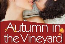 Autumn in the Vineyard / St. Helena Vineyard series ~ OUT NOW! For Nate, Sorrento Ranch is more than just soil and grape vines; it was his father's dream—a dream Nate is determined to make a reality. So when he finds himself forced to cohabitate with a hot-headed, irrational, and incredibly gorgeous Baudouin, Nate is surprised to discover that chaos could be so much fun—especially when she sleeps in nothing but lace.