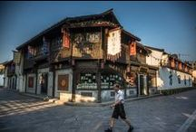 The Grand Canal In Hangzhou / the custom and daily life of people around the Grand Canal