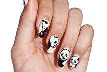 Nail This Look: Lazy Pandas / Our Lazy Pandas nail wraps are incredibly cute. Almost too sweet! To pull a whole set of these cuties off we'll be sporting classic black and white looks. Since these wraps have a transparent background, play with fun bright polish colors underneath to add a punch to your look!