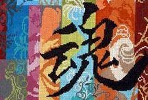 * Cross Stich * Zen / Ponto cruz com o tema : Zen e Oriente