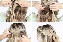 Hiuksia / Vinkkejä ja inspiraatiota ihanien ja helppojen kampausten tekoon