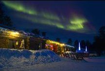 Winter and Northen lights in Kaamanen# / Northen Lights in Kaamanen