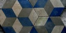 Blue tiles / Inspiration for tiling your walls and floors.