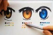 Manga/anime Eyes / Different styles of manga and anime eyes