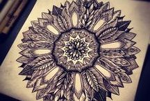 Malowane ptaki / Painted birds / Tatuaże, henna i wzory. Tattoos, henna & designs.
