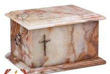 Stone Caskets Funeral urns for Ashes / Funeral urn For Adults natural stone , onyx , marble  urns for ashes online shop.Gregsol Ltd  Unique Memorials , Modern urns UK