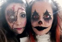 Make Halloween Up / Creapy clown and scary doll