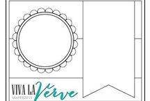 Viva La Verve Card Sketches / Card Sketches