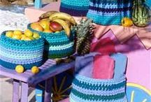baskets and bowls, crochet and fabric / by Sandra Massey